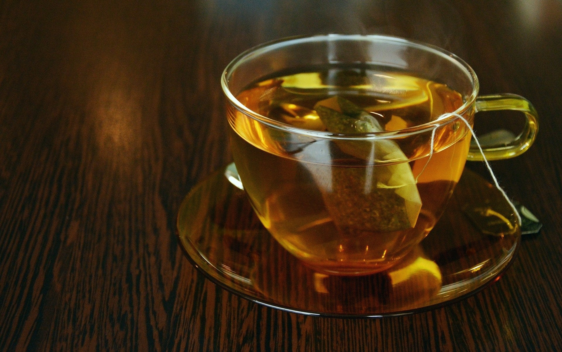 A cup of green tea to boost metabolism.