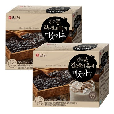 SFMart Damtuh Black Grain Mix Powder (담터 검은콩 검은참깨 흑미 미숫가루)20gx12 Sticks Tea & Coffee- SFMart