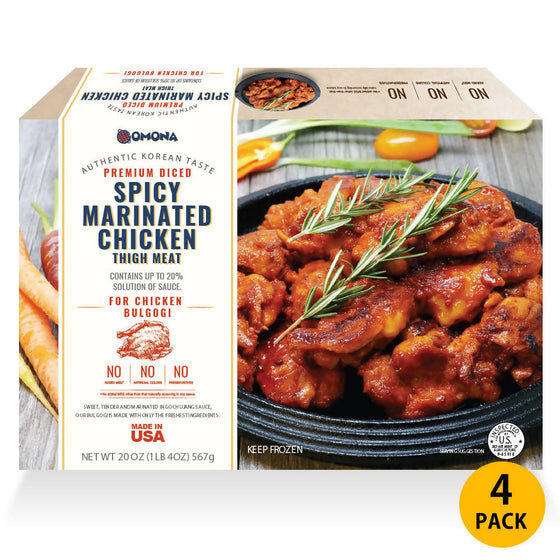 Omona USA Omona Spicy Marinated Chicken Bulgogi (4 Packs) Frozen Food- SFMart