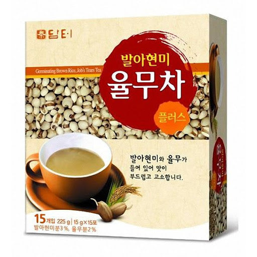 SFMart Damtuh Sprouting Brown Rice Job's Tears Tea (담터 발아현미 율무차) 15gx15 Sticks Tea & Coffee- SFMart