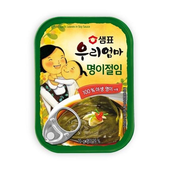 SFMart Sempio Wild Garlic Leaves in Soy Sauce (샘표 명이절임) 70g Side Dishes- SFMart