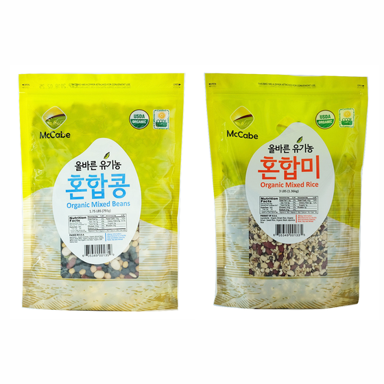 SFMart McCabe Organic Grain (2-Pack) (Mixed Rice and Mixed Bean) total 6lbs Grain & Rice- SFMart