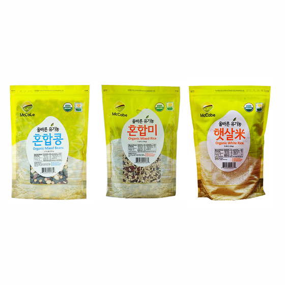 McCabe McCabe Organic Grain (3-Pack) (White Rice, Mixed Rice and Mixed Bean) - 9lbs Grain & Rice- SFMart
