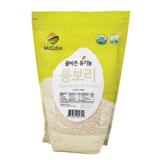 SFMart McCabe Organic Whole Barley 3-Pound Grain & Rice- SFMart