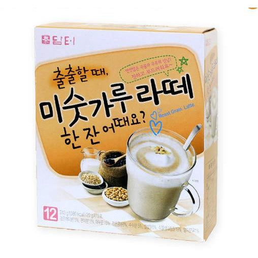 SFMart Damtuh Roast Grain Latte (담터 미숫가루 라떼)  20g x 12 Sticks Tea & Coffee- SFMart