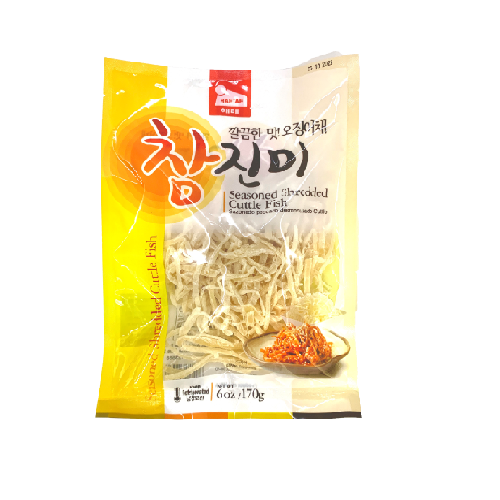 SFMart Haetae Seasoned Shredded Cuttle Fish (해태 오징어채 참진미)6oz Dried Foods- SFMart