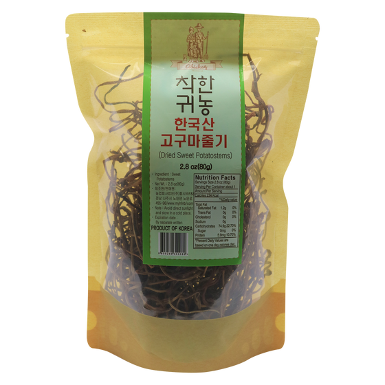 SFMart Abishag Dried Sweet Potatostems (착한귀농 한국산 고구마줄기) 2.8oz Dried Foods- SFMart