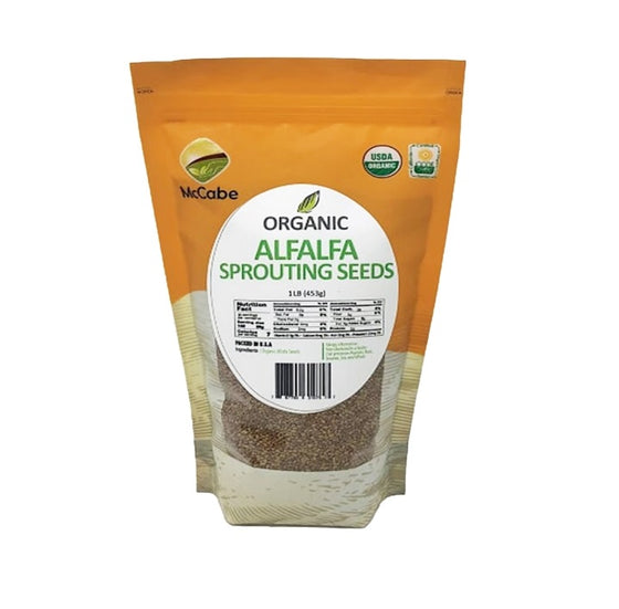 SFMart McCabe Organic Alfalfa Sprouting Seeds (1lb) Sprouting Seeds- SFMart