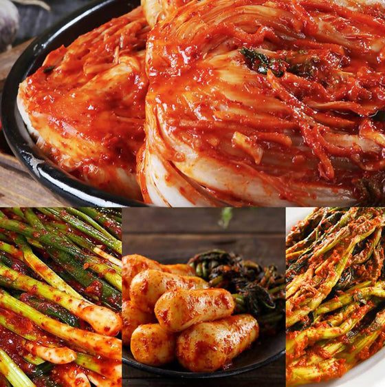 Omona USA [Made in Gangwon-do, Korea] Dong Gang Authentic Korean Kimchi Bundle (4 Packs) Grocery- SFMart