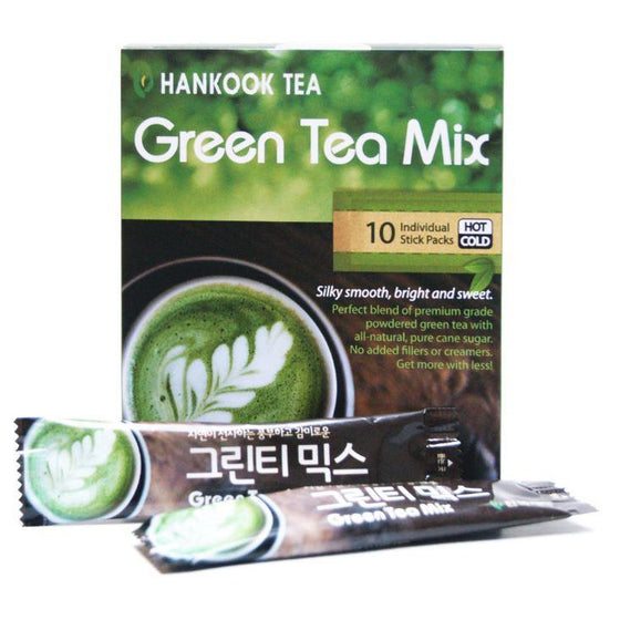 SFMart Powdered Green Tea - Sweet Mix [10 stick packs] Tea & Coffee- SFMart