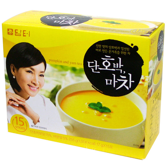 SFMart Damtuh Pumpkin and Yam Tea (담터 단호박 마차) 17g x 15 Sticks Tea & Coffee- SFMart