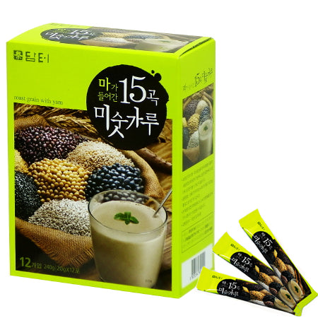 SFMart Damtuh 15 Roast Grain Latte (담터 15곡물 미숫가루) 20g x 12 Sticks Tea & Coffee- SFMart