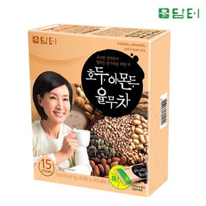 Damtuh (담터) Damtuh Walnut, Almond, Pearled Barley Tea (담터, 호두 아몬드 율무차) 18g x 15 Sticks Tea & Coffee- SFMart
