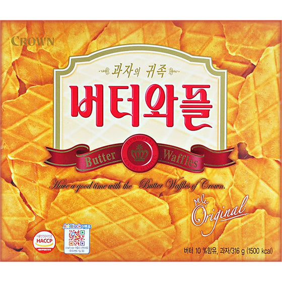 Crown Butter Waffles (버터와플) 316g - SFMart