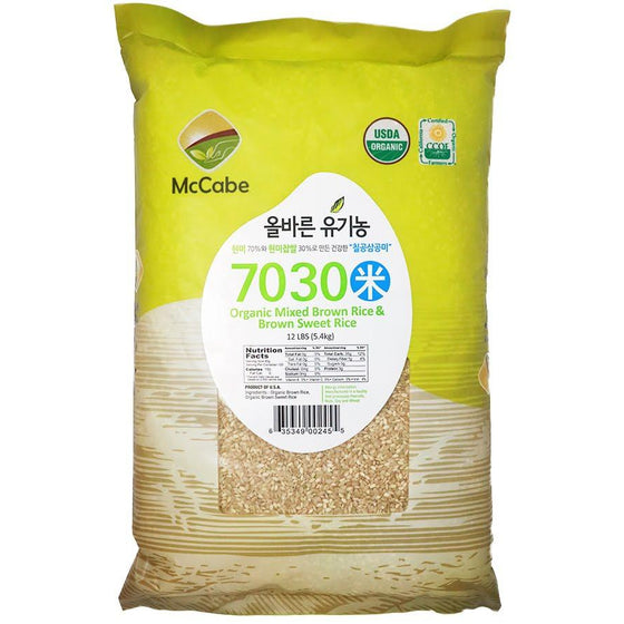 McCabe McCabe Organic 7030 (Brown Rice & Brown Sweet Rice) Grain & Rice- SFMart