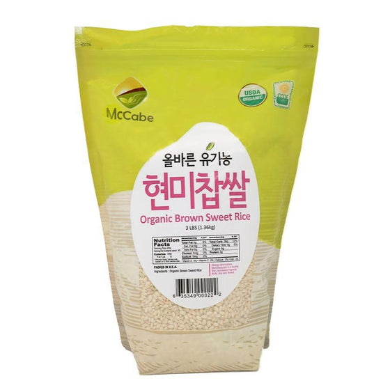 McCabe McCabe Organic Brown Sweet Rice 3lbs Grain & Rice- SFMart