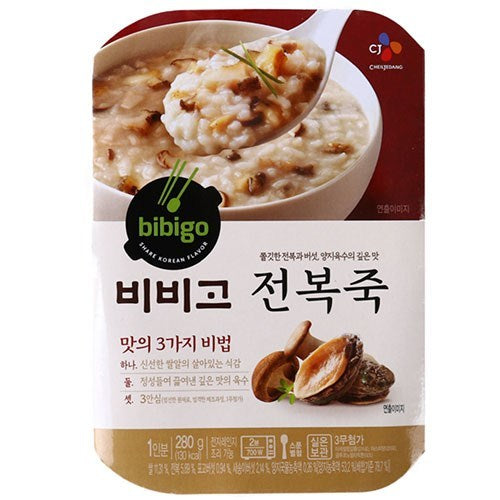 SFMart CJ Bibigo Rice Porridge with Abalone (비비고 전복죽) 280g Porridge & Soup- SFMart
