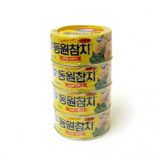 Dongwon (동원) Dongwon Light Standard Tuna (동원 라이트 스탠다드 참치) 150g x 4cans Canned Foods- SFMart