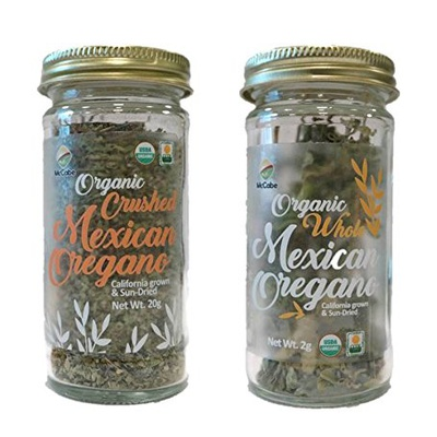 SFMart McCabe Organic Mexican Oregano (2-Pack) (2g Whole Oregano + 20g Oregano Crushed) Condiments- SFMart