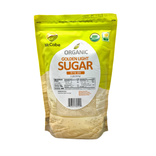 SFMart McCabe Organic Golden Light Sugar (유기농 설탕)2lbs Processed- SFMart