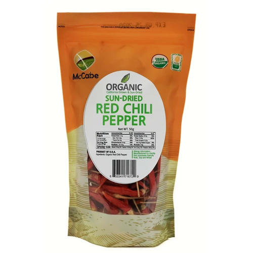 McCabe McCabe Organic Sun-Dried Red Chili Pepper, 50g Dried Foods- SFMart