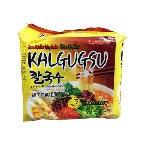 SFMart Samyang Non-Frying Chicken Onion Flavor Noodles (삼양 칼국수) 100g x 5 Packs Ramen Bags- SFMart