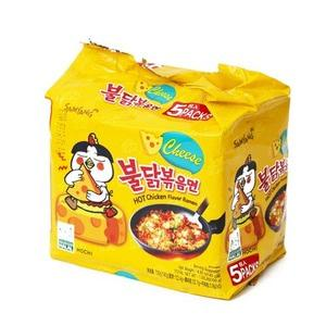 SFMart Samyang Cheese Hot Chicken Ramen (삼양 치즈 불닭볶음면)140g x 5 Ramen Bags- SFMart