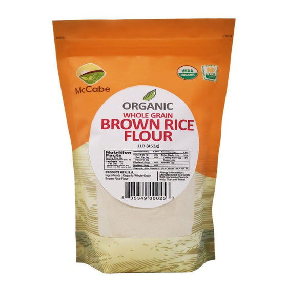 McCabe McCabe Organic Brown Rice Flour 1lb Powder & Mix- SFMart