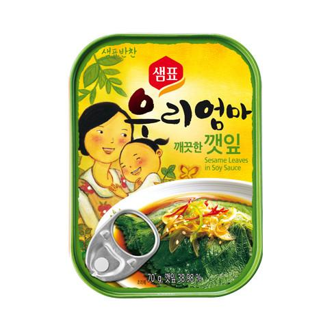SFMart Sempio Pickled Perilla Leaves in Soy Sauce(샘표 깨끗한깻잎)70g Side Dishes- SFMart