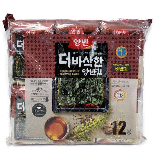 Dongwon (동원) Dongwon Double Roasted Seasoned Laver 5gram x 12 Seaweeds & Lavers- SFMart