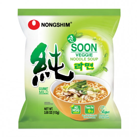 SFMart Nongshim Soon Veggie Noodle Soup (순라면) 4packs Ramen Bags- SFMart