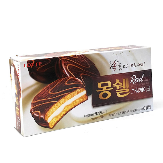 SFMart Lotte Moncher Dream Cake (롯데 몽쉘 크림케잌) 32gx6 Snacks- SFMart