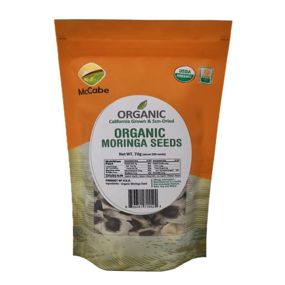 McCabe McCabe Organic Sun-Dried Moringa Seeds, 70g Dried Foods- SFMart
