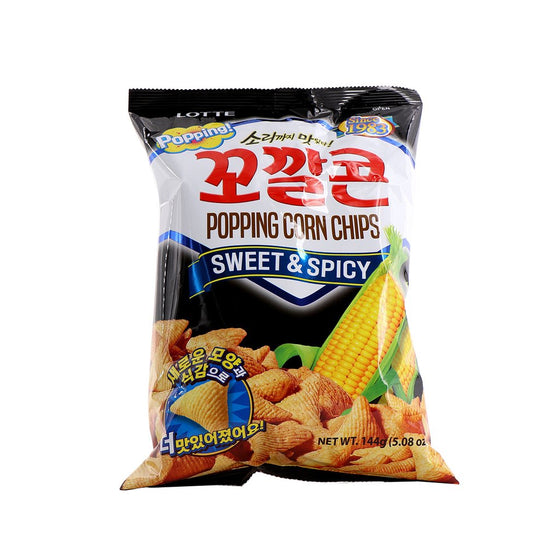 SFMart Lotte Popping Corn Chips Sweet & Spicy (롯데 꼬깔콘 매콤달콤한맛)72g Snacks- SFMart