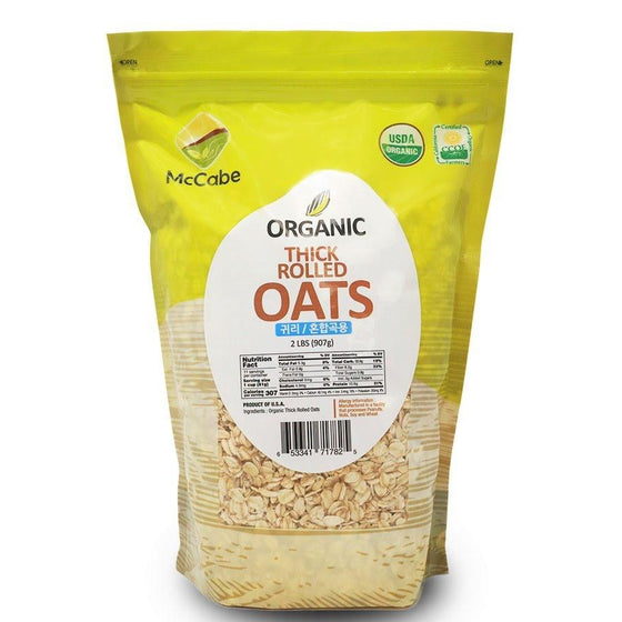 McCabe McCabe Organic Thick Rolled Oats, 2-Pound Grain & Rice- SFMart