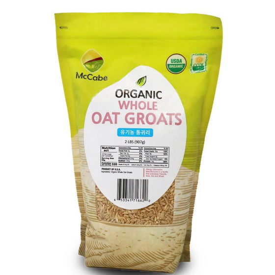 McCabe Organic Whole Oat Groats, 2lbs - SFMart