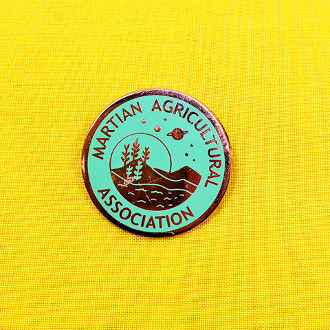 Martian Agriculture Association Pin