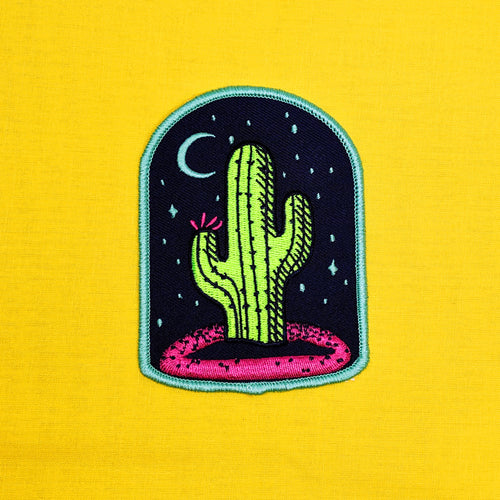 Cactus Moon Iron-On Patch