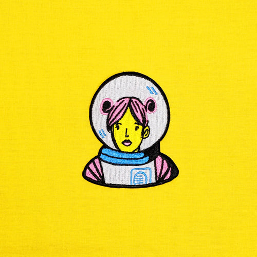Pink Astronaut Iron-On Patch