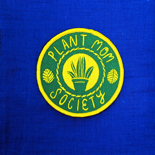 Plant Mom Society Iron-On Patch