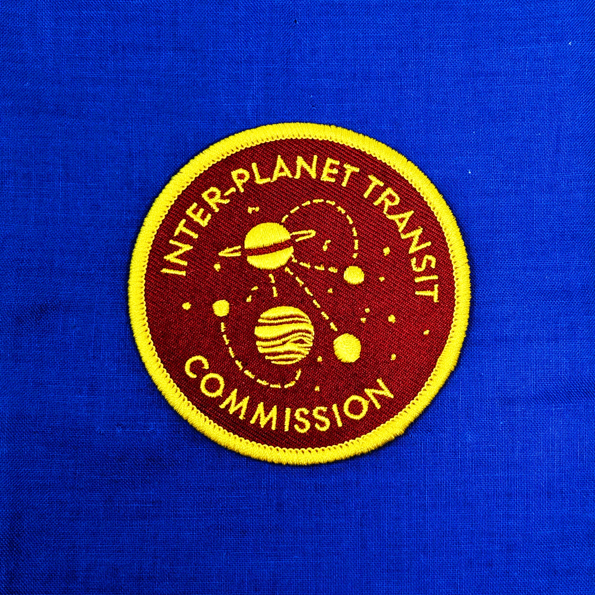 Inter-Planet Transit Commission Iron-On Patch