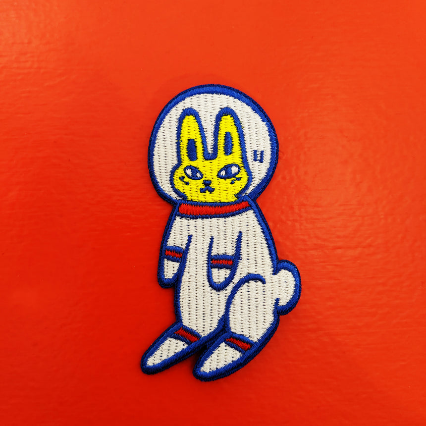 Astronaut Bunny Iron-On Patch