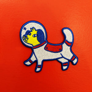 Astronaut Dog Iron-On Patch