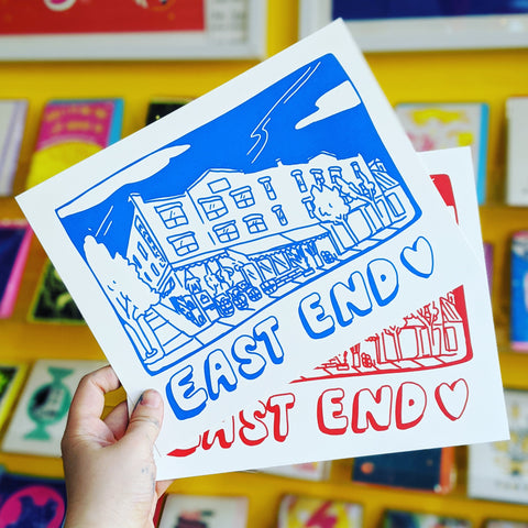 East End Love Mini Print