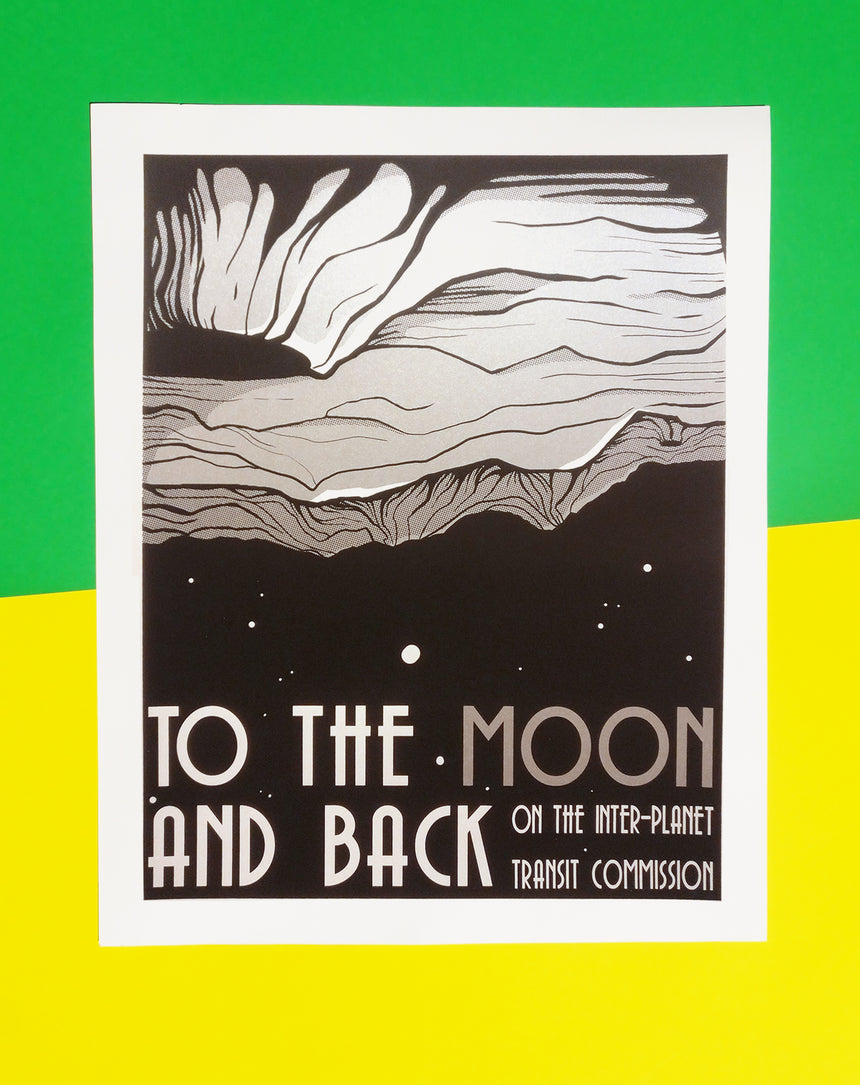 To The Moon and Back Screen Printed Poster