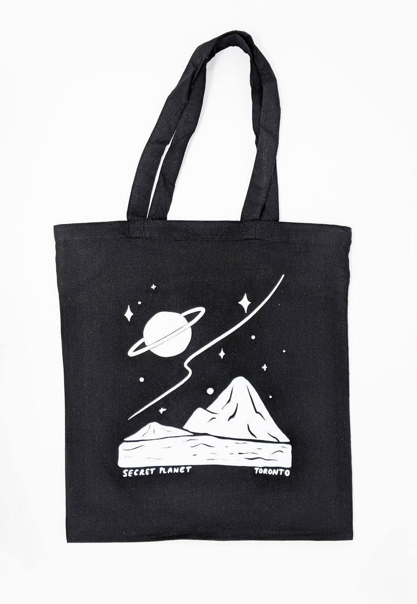 Black Secret Planet Tote