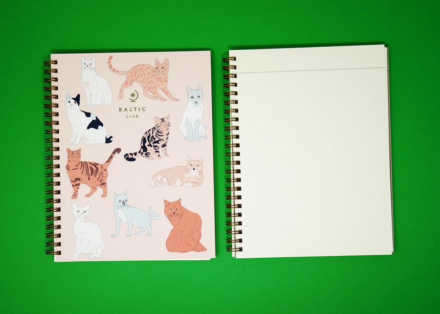Baltic Club Dog / Cat Dotted Notebook