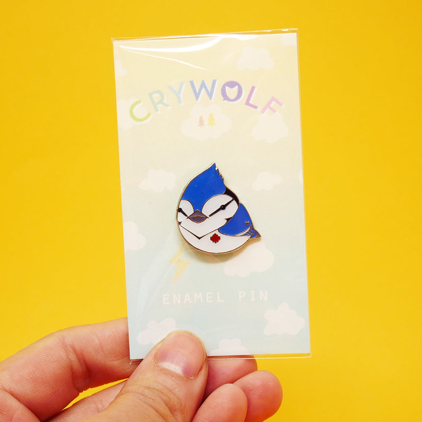Crywolf Enamel Pins