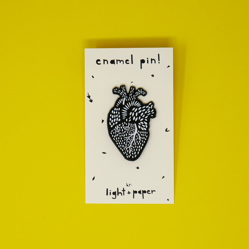 Light + Paper Heart Enamel Pin