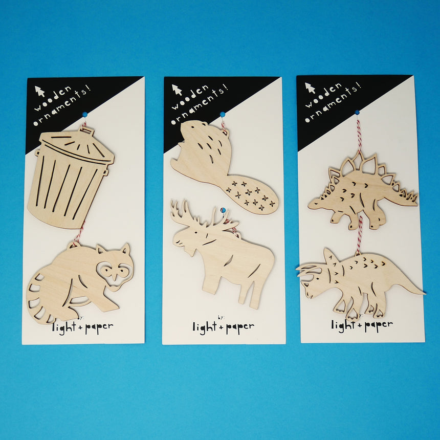 Light + Paper Animal Ornament Sets